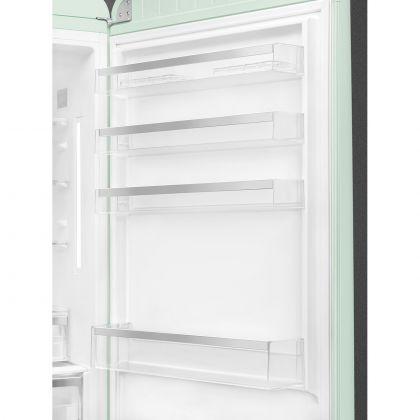 Combina frigorifica retro Smeg FAB38RPG, 70 cm latime, No Frost, clasa A++, verde deschis, inverter, Ice maker