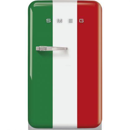 Frigider minibar retro pentru bauturi Smeg FAB10HRDIT2, steagul Italiei, 54 cm latime
