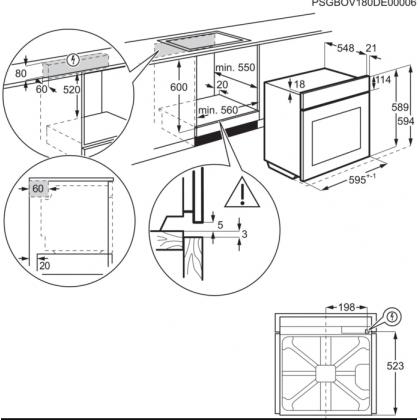 Cuptor incorporabil Electrolux SteamBake EOD3H70X, 72 l, inox, ghidaje telescopice