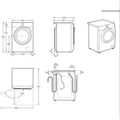 Masina de spalat rufe Electrolux EW9F161B, 10 kg, clasa A, abur, magnet permanent