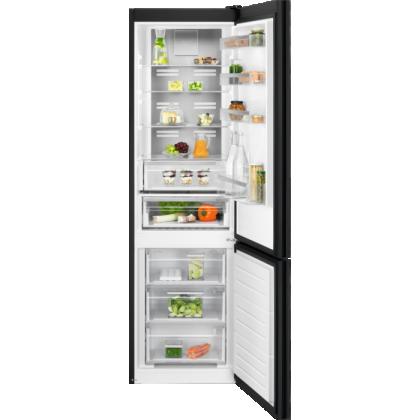 Combina frigorifica Electrolux LNT7ME34K1, 360 litri, Frost free, sticla neagra lucioasa, TwinTech