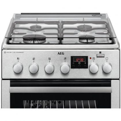 Aragaz mixt AEG CKB56471BX, SteamBake, AirFry, 50 cm, inox