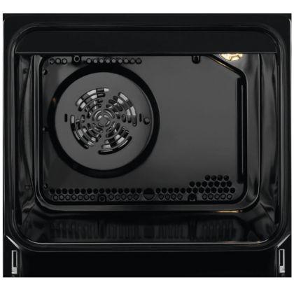 Aragaz electric AEG CCB56471BX, SteamBake, AirFry, 50 cm, inox, suprafata vitroceramica