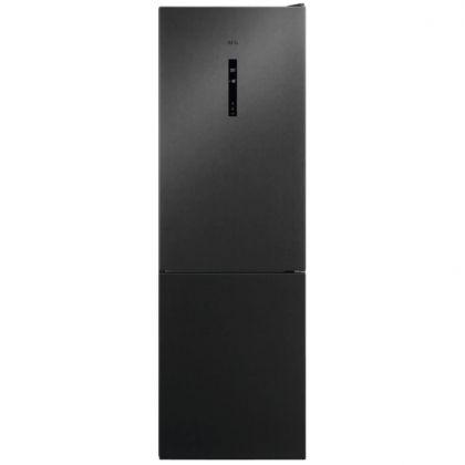 Combina frigorifica AEG RCB732E5MB, 324 l, A++, frost free, inox negru, TwinTech, MultiFlow