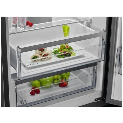 Combina frigorifica AEG RCB736E5MX, 360 l, A++, frost free, inox antiamprenta, TwinTech, MultiFlow