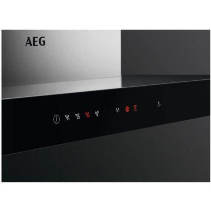 Hota semineu AEG DBE5961HG, 90 cm, inox, 700 mc/h, Hob2Hood, Breeze