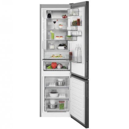 Combina frigorifica AEG RCB736E5MB, 360 l, A++, frost free, inox negru, TwinTech, MultiFlow