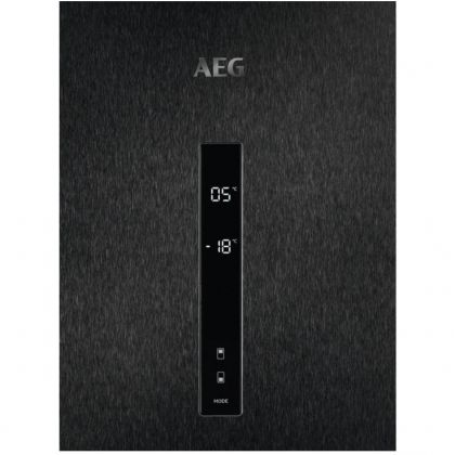 Combina frigorifica AEG RCB736E5MB, 360 l, clasa E, frost free, inox negru, TwinTech, MultiFlow