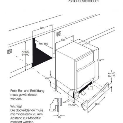 Congelator incorporabil AEG ABB682F1AF, static, 95 l