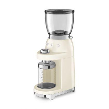 Rasnita de cafea retro Smeg CGF01CREU, crem