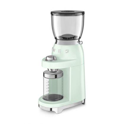 Rasnita de cafea retro Smeg CGF01PGEU, verde deschis