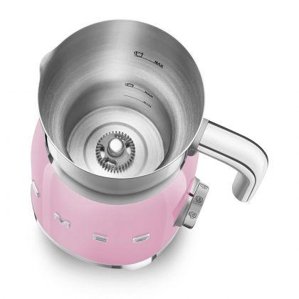 Aparat pentru spuma de lapte retro Smeg MFF01PKEU, roz