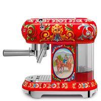 Espressor cafea Smeg Dolce & Gabana ECF01DGEU, retro, 15 bar