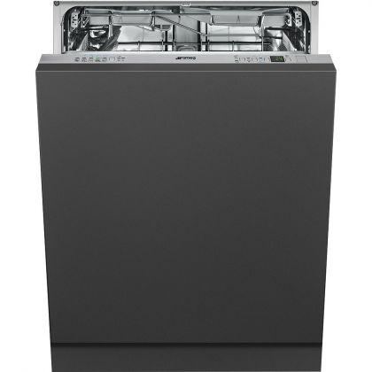 Masina de spalat vase complet incorporabila Smeg STP364T, 60 cm, A++, 14 seturi, 9 programe, deschidere automata usa