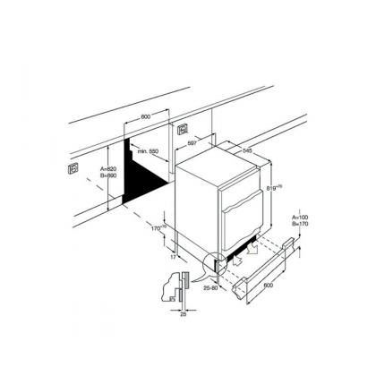 Frigider minibar incorporabil Smeg UD7140LSP, 60 cm, static