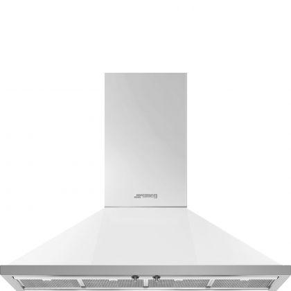Hota semineu Smeg Portofino KPF12WH, 120 cm, alb
