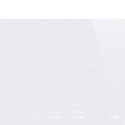 Plita incorporabila cu inductie Smeg SI2M7643DW, 60 cm, alba