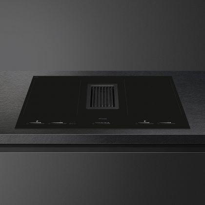 Plita incorporabila cu inductie si hota integrata Smeg HOBD682D, 80 cm