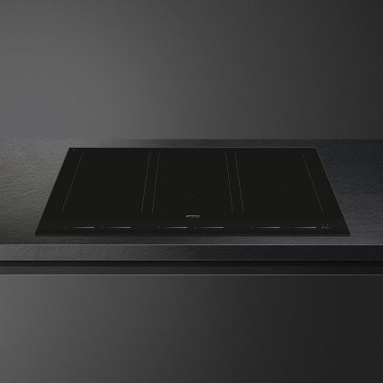 Plita incorporabila cu inductie Smeg Linea SIM1963D, 90 cm, negru