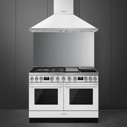 Masina de gatit mixta Smeg Portofino CPF120IGMPWH, 120 cm, 2 cuptoare, alb