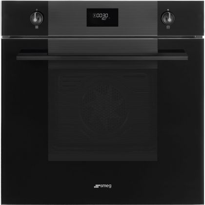 Cuptor incorporabil electric Smeg Linea SF6101TVNO, Black Edition, Vapor Clean