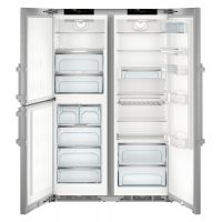 Combina frigorifica Side by Side Liebherr SBSes 8483, No Frost, Biofresh, IceMaker, 688L, clasa A+++, Inox