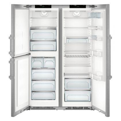 Combina frigorifica Side by Side Liebherr SBSes 8483, No Frost, Biofresh, IceMaker, 688L, clasa D, Inox