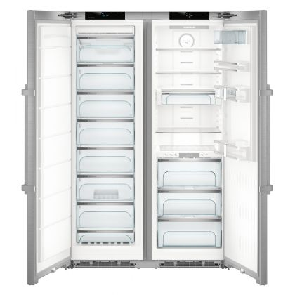Combina frigorifica Side by Side Liebherr SBSes 8773, No Frost, Biofresh, 635L, clasa D, inox