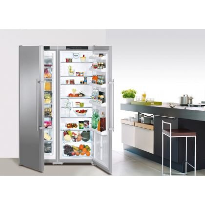 Combina frigorifica Side by Side Liebherr SBSesf 7212, No Frost, MagicEye, DuoCooling, Vario Space, 640 L, clasa A+, inox