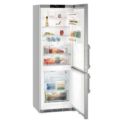 Combina frigorifica Liebherr CBNef 5735, No Frost, BioFresh, 381 L, clasa D, silver