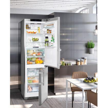 Combina frigorifica Liebherr CBNes 4898, No Frost, BioFresh Plus, IceMaker, 338 L, clasa C, inox