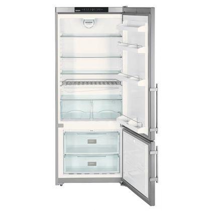 Combina frigorifica Liebherr CNPesf 4613 No Frost, 75 cm, MagicEye Control, DuoCooling, 420 L, clasa A++, silver