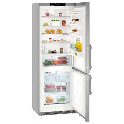 Combina frigorifica Liebherr CNef 5745, No Frost, DuoCooling, BioCool, IceMaker, 397 L, clasa D, silver