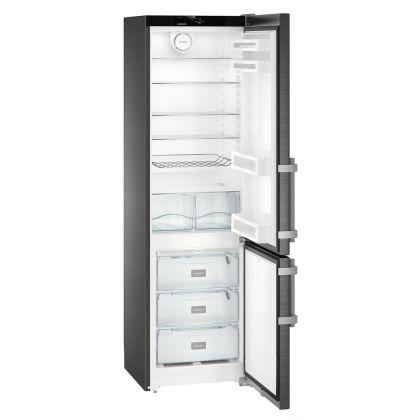 Combina frigorifica Liebherr CNbs 4015, No Frost, DuoCooling, 356 L, clasa E, BlackSteel