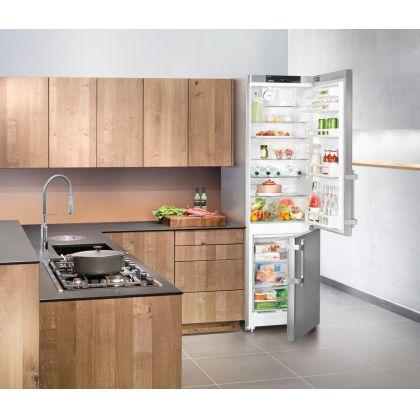 Combina frigorifica Liebherr CNef 4015, No Frost, DuoCooling, 356 L, clasa A++, Silver