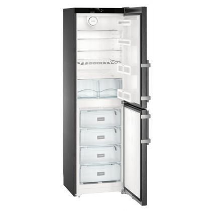 Combina frigorifica Liebherr CNbs 3915, No Frost, DuoCooling, 340 L, clasa E, BlackSteel