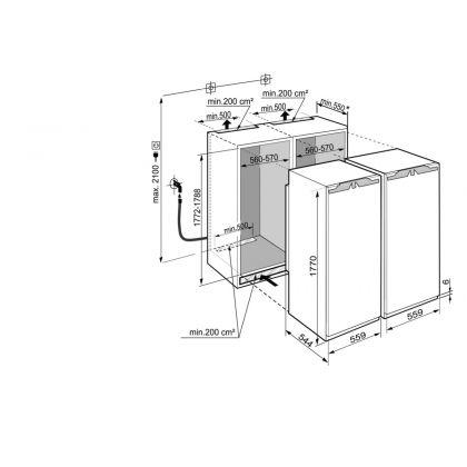 Combinatie frigorifica incorporabila Side by Side Liebherr SBS 70I4, No Frost, Biofresh, IceMaker, 510 l, clasa F/D