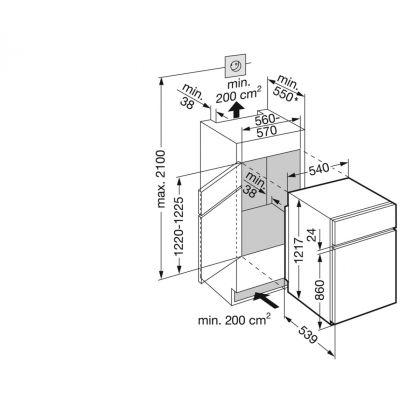 Combina frigorifica incorporabila Liebherr ICTS 2231, SmartFrost, BioCool, 198 l, clasa A++, glisare