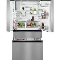 Combina frigorifica cu 4 usi AEG RMB954F9VX, 90 cm, CustomFlex, 541 l net, No Frost Inteligent, A+, dozator bauturi