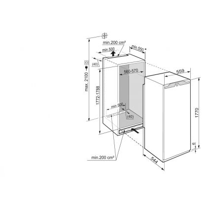 Frigider incorporabil cu o usa Liebherr IK 3520, BioCool, SuperCool, 324 l, clasa A++