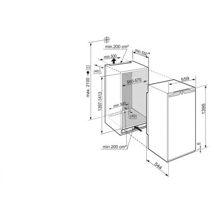 Frigider incorporabil cu o usa Liebherr IK 2720, BioCool, SuperCool, 252 l, clasa A++