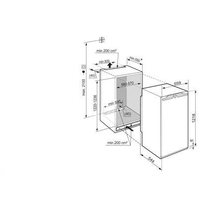 Frigider incorporabil cu o usa Liebherr IKP 2364, BioCool, SuperCool, 200 l, clasa A+++