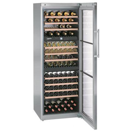 Vitrina de vin Vinidor Liebherr WTes 5872 inox, 3 zone de temperaturi individuale, protectie UV, 496 l, 178 sticle