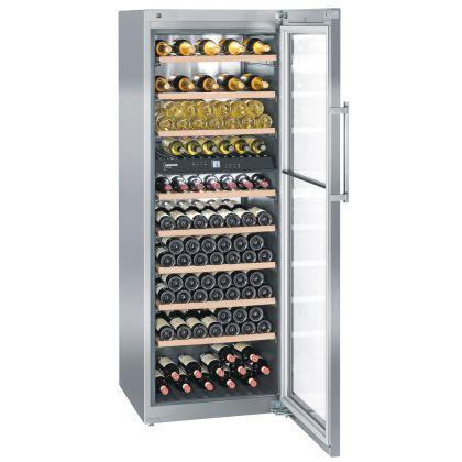 Vitrina de vin Vinidor Liebherr WTes 5972 inox, 2 zone de temperaturi individuale, protectie UV, 516 l, 211 sticle