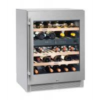 Vitrina de vin Vinidor Liebherr WTes 1672 inox, 2 zone de temperaturi individuale, protectie UV, 95 l, 34 sticle