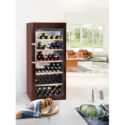 Vitrina de vin GrandCru Liebherr WKt 4552 culoare Terra, protectie UV, o zona de temperatura individuala, 435 l, 201 sticle