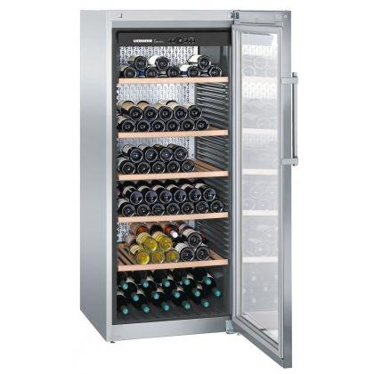 Vitrina de vin GrandCru Liebherr WKes 4552 culoare inox, protectie UV, o zona de temperatura individuala, 435 l, 201 sticle