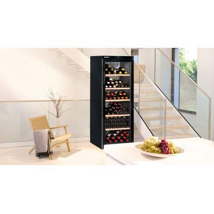 Vitrina de vin Vinothek Liebherr WKb 4212 negru, protectie UV, o zona de temperatura individuala, 395 l, 200 sticle