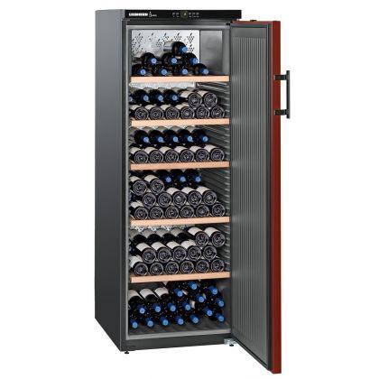 Vitrina de vin Vinothek Liebherr WKr 4211 negru si rosu, o zona de temperatura individuala, 377 l, 200 sticle