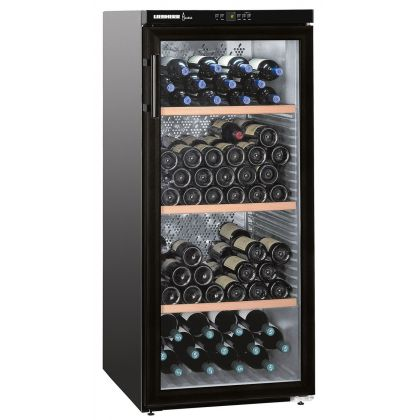 Vitrina de vin Vinothek Liebherr WKb 3212 negru, protectie UV, o zona de temperatura individuala, 309 l, 164 sticle
